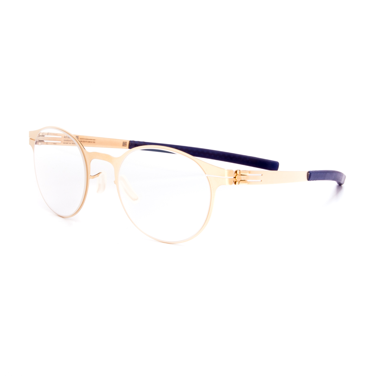 ic! Berlin 125 Foxweg Eyeglasses Matte Gold Frame Blue ...