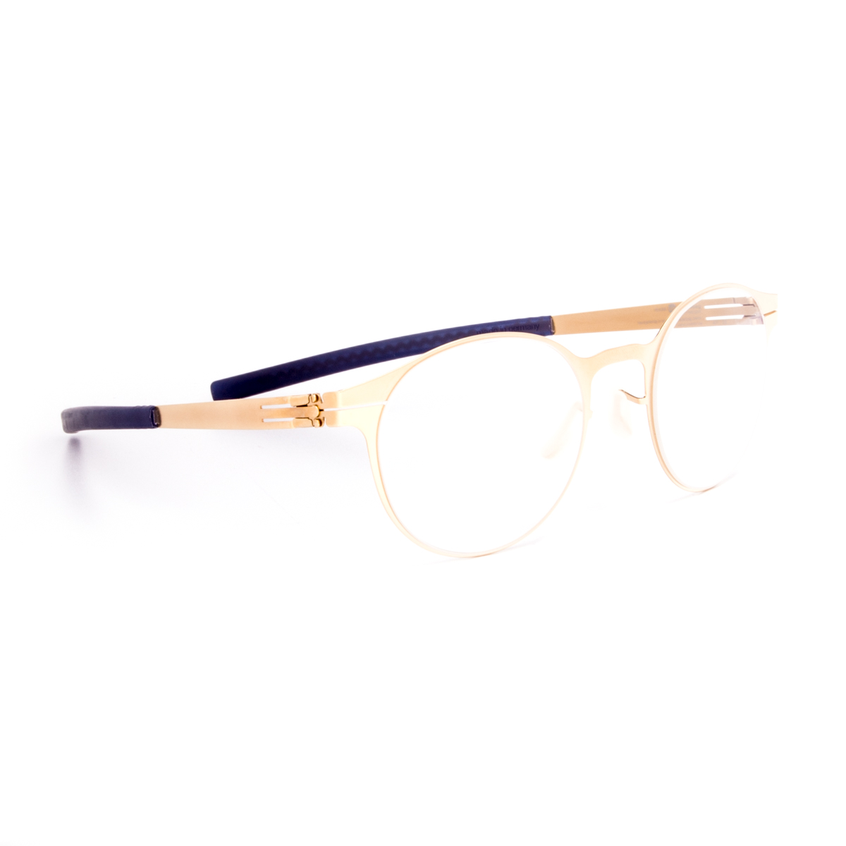 ic! Berlin 125 Foxweg Eyeglasses Matte Gold Frame Blue ...