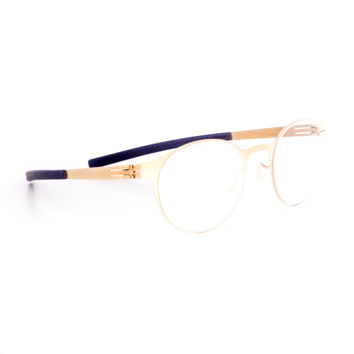 Glasses Frame Ends : ic! Berlin 125 Foxweg Eyeglasses Matte Gold Frame Blue ...