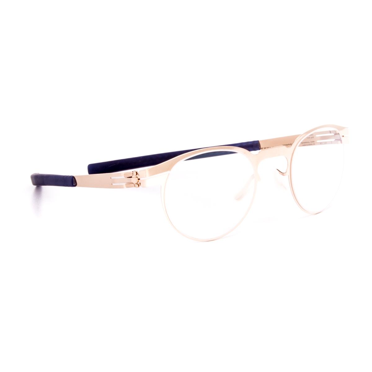 Non Prescription Glasses Gold Frame : ic! Berlin Ofen Eyeglasses Rose Gold Frame / RX Clear Demo ...