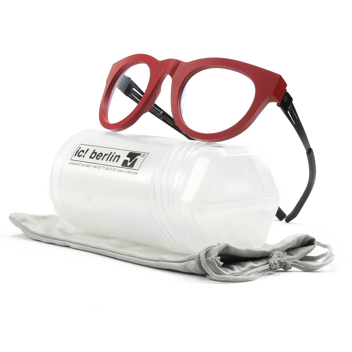 Eyeglasses Frame Temples : ic! berlin A0917 Nameless 17 Eyeglasses Just Red Rough ...
