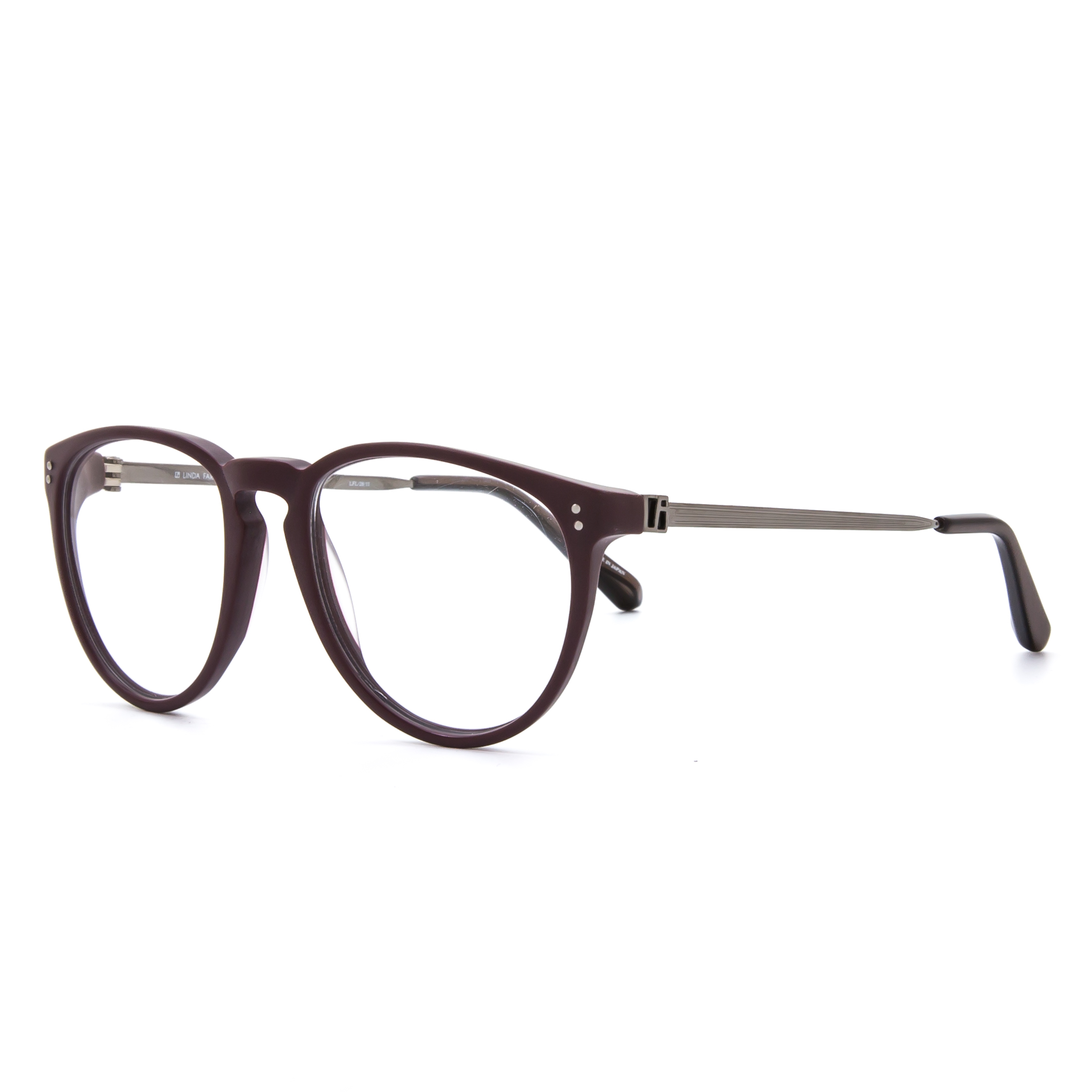 Eyeglass Frames For Narrow Bridge : Linda Farrow Luxe LFL 26 Eyeglasses C11 Purple Grey Frame ...
