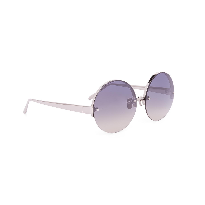 Linda Farrow Luxe LFL 313 Sunglasses C6 White Gold Frame ...
