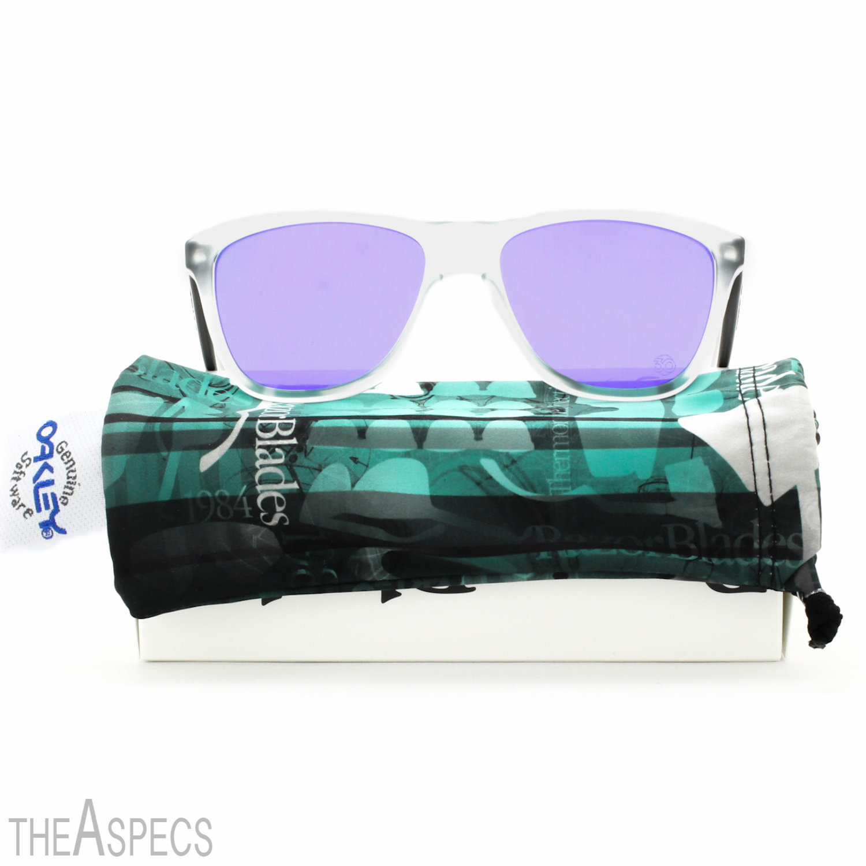 ea1cd20c57 Oakley Heritage Frogskins Sunglasses OO9013 24-419 Matte Clear   Violet  Iridium
