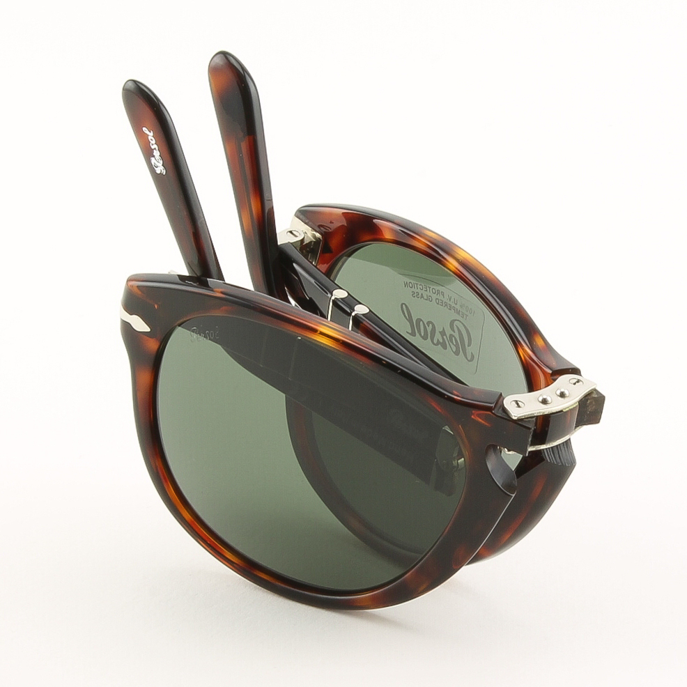 folding sunglasses  Persol 714 Folding Sunglasses 24/31 Brown Havana, Grey Crystal ...