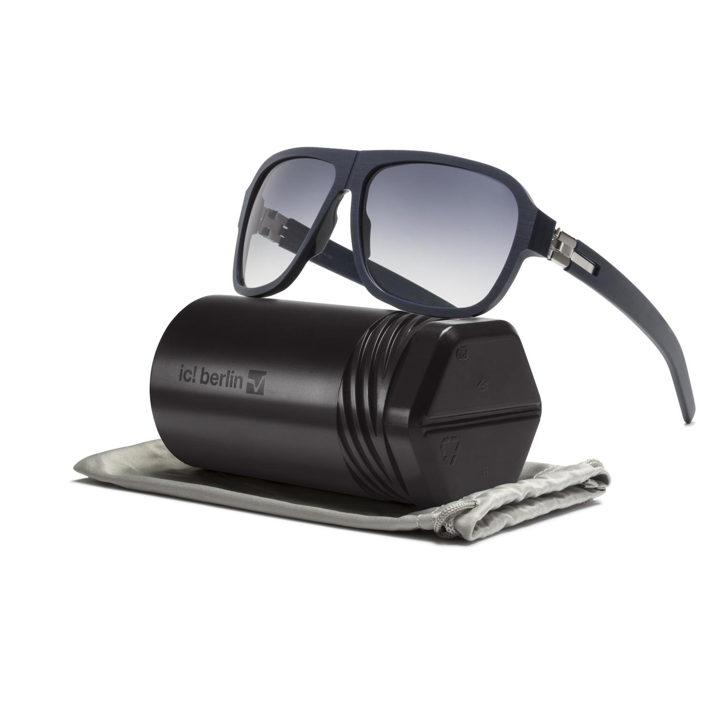 ic berlin power law sunglasses slim matte blue black to. Black Bedroom Furniture Sets. Home Design Ideas