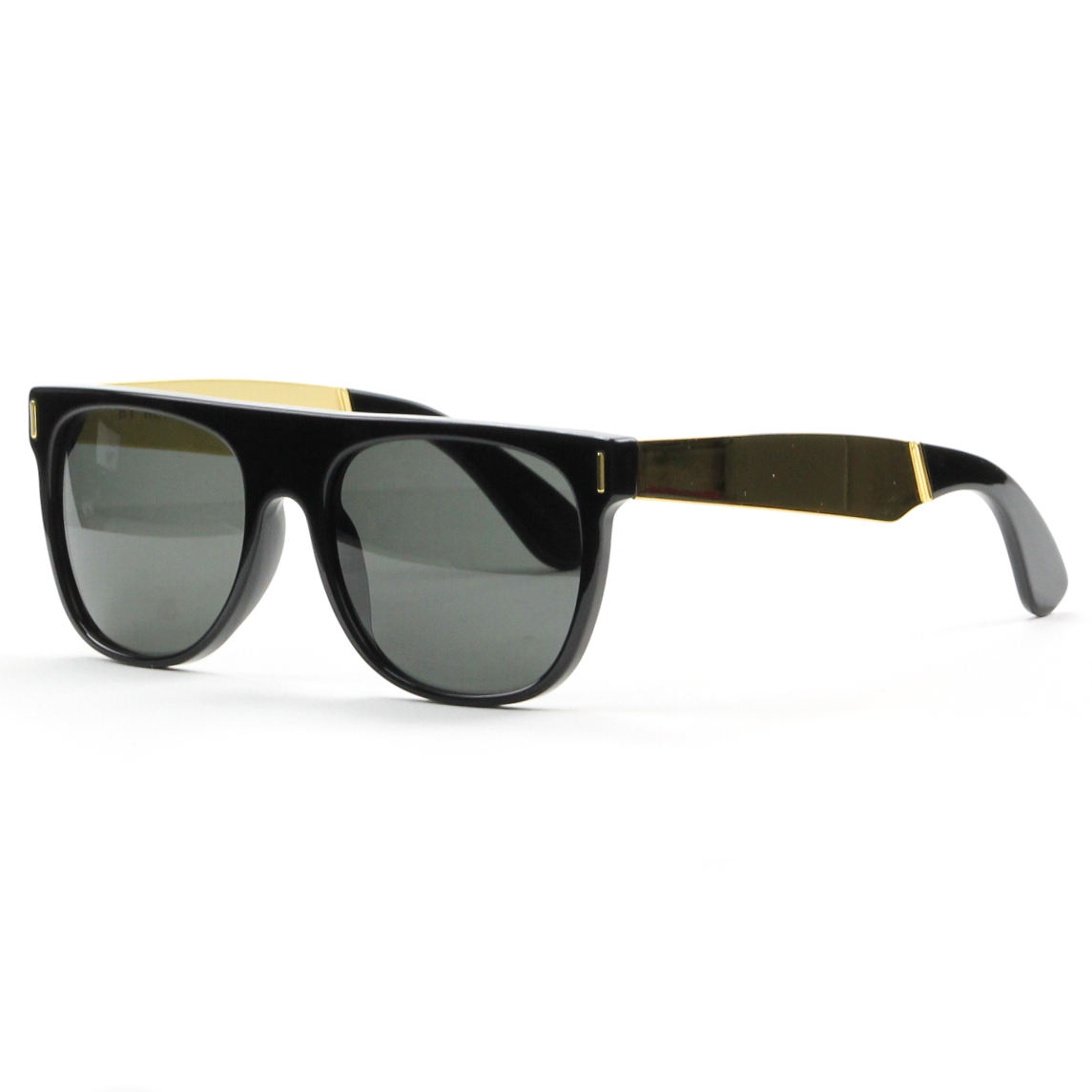 RETROSUPERFUTURE Super Flat Top Sunglasses Black Gold ...