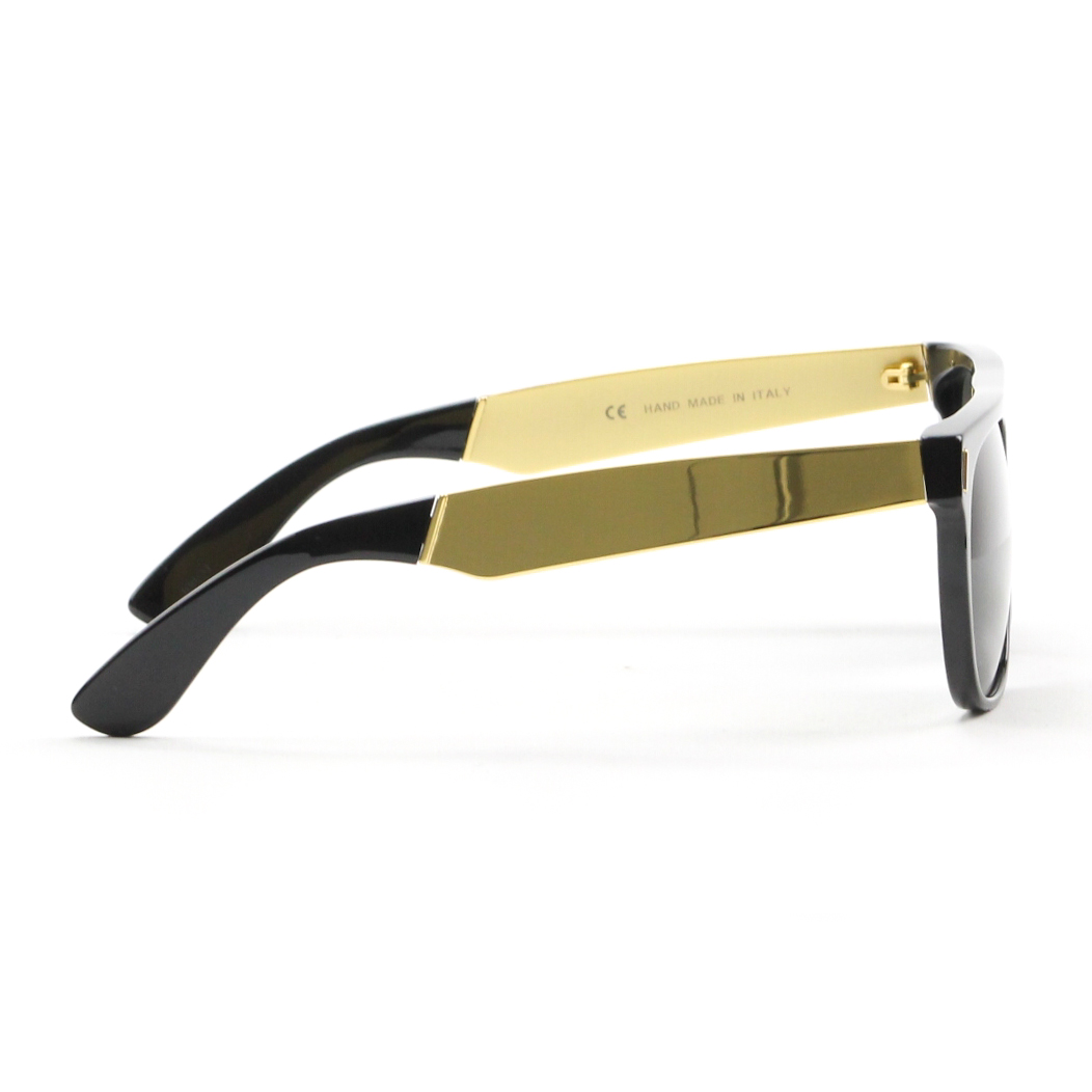 RETROSUPERFUTURE Super Flat Top Sunglasses Black Gold ...