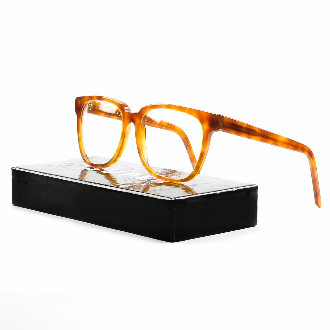 Super Lightweight Eyeglass Frames : Super People 626 Eyeglasses Light Havana Clear Lenses by ...