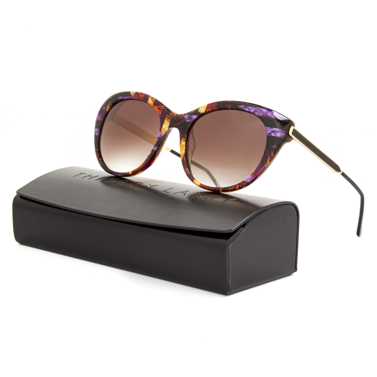 Thierry Lasry Fingery Sunglasses E91 Vintage Purple & Gold ...