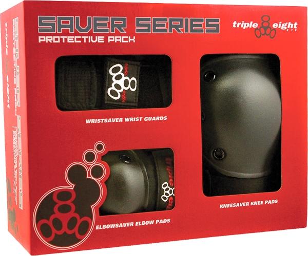 Triple Eight TRIPLE 8 SAVER 3 PK PADS-MED knee ELBOW wrist