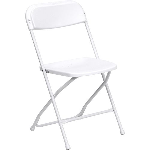 HERCULES Series 800 lb. Capacity Premium White Plastic Folding Chair FLALEL3WHIT