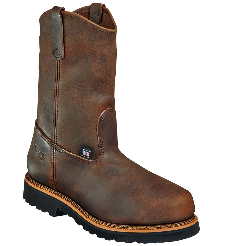 Thorogood Men's Thorogood Wellington Safety Toe Work Boots Leather Brown 804-3310
