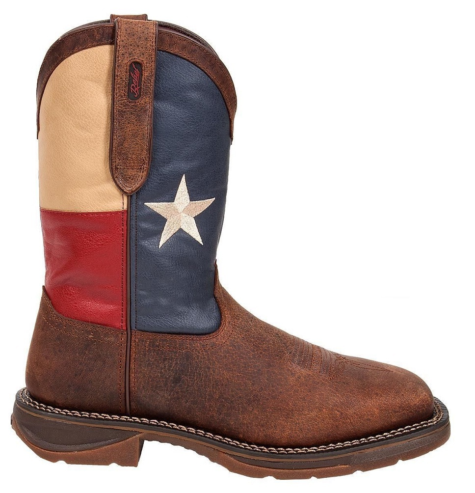 Durango Boot Rebel by Durango Men's Steel Toe Texas Flag Western Boot DB021