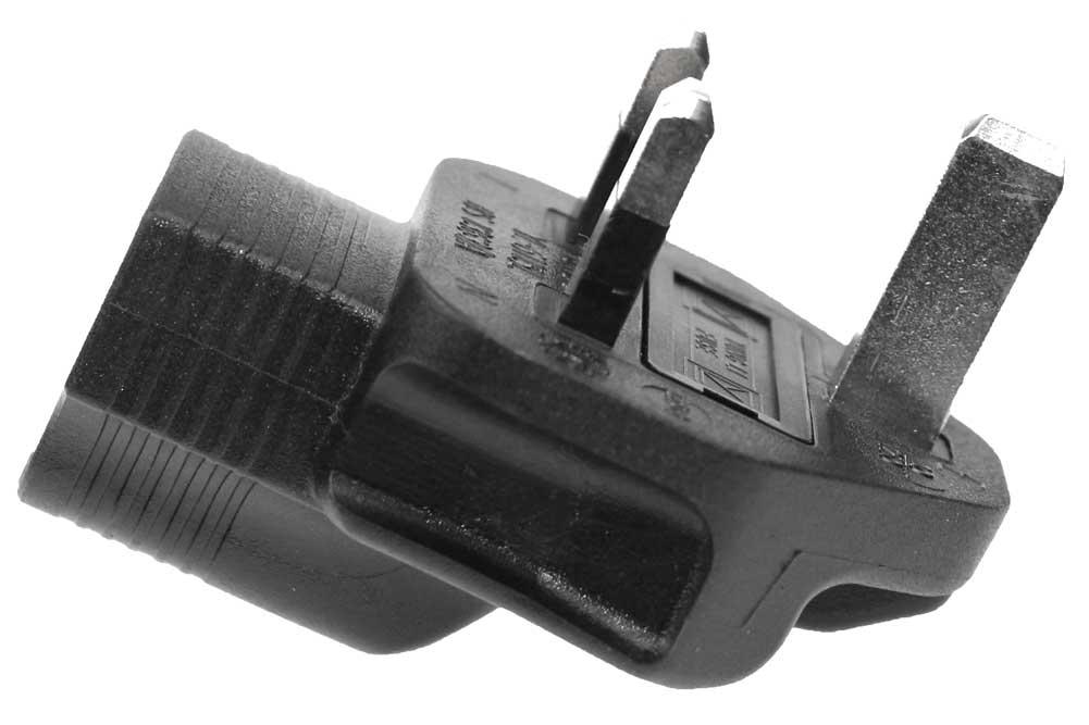 3 Prong Right-Angle Power Plug Adapter, USA NEMA 5-15R ...