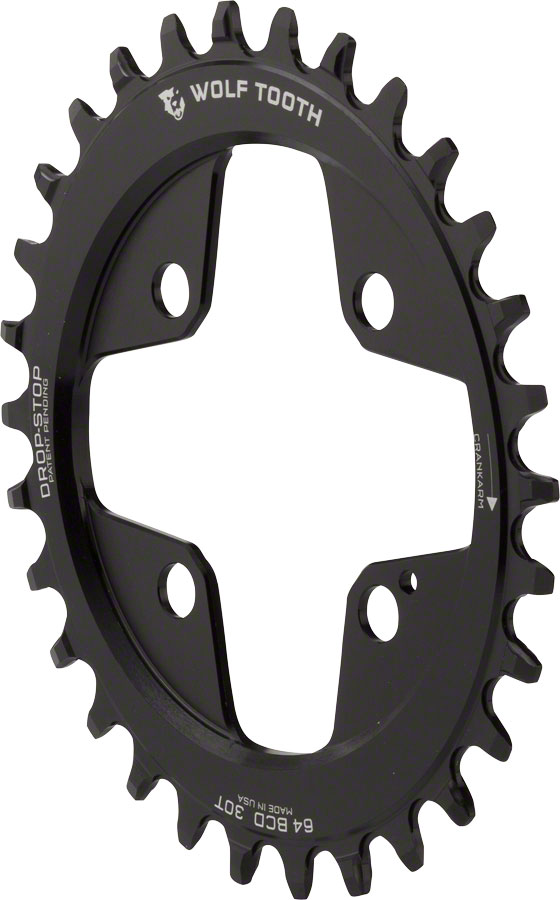 Wolf Tooth Components Drop Stop Powertrac Chainring 30t X