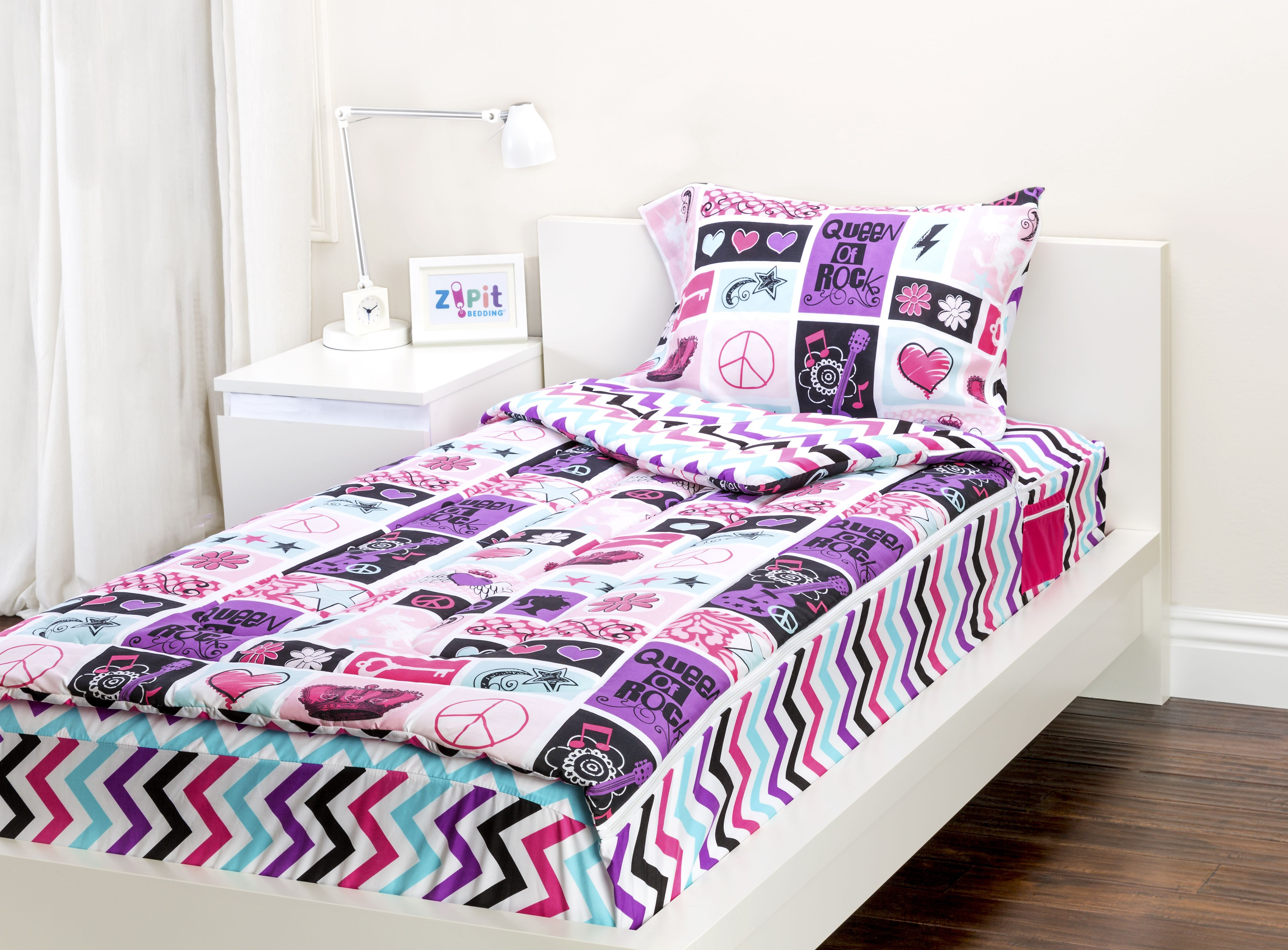 Zipit Bedding Set Zip Up Your Sheets and. Zipit Bedding Set   Zip Up Your Sheets and Comforter Like a