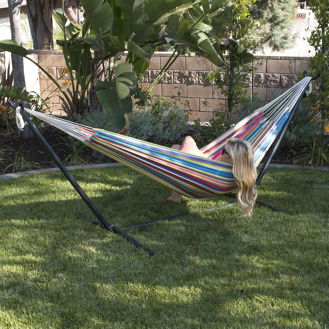 NEW 10ft Double Hammock Heavy Duty Space Steel With Stand ...