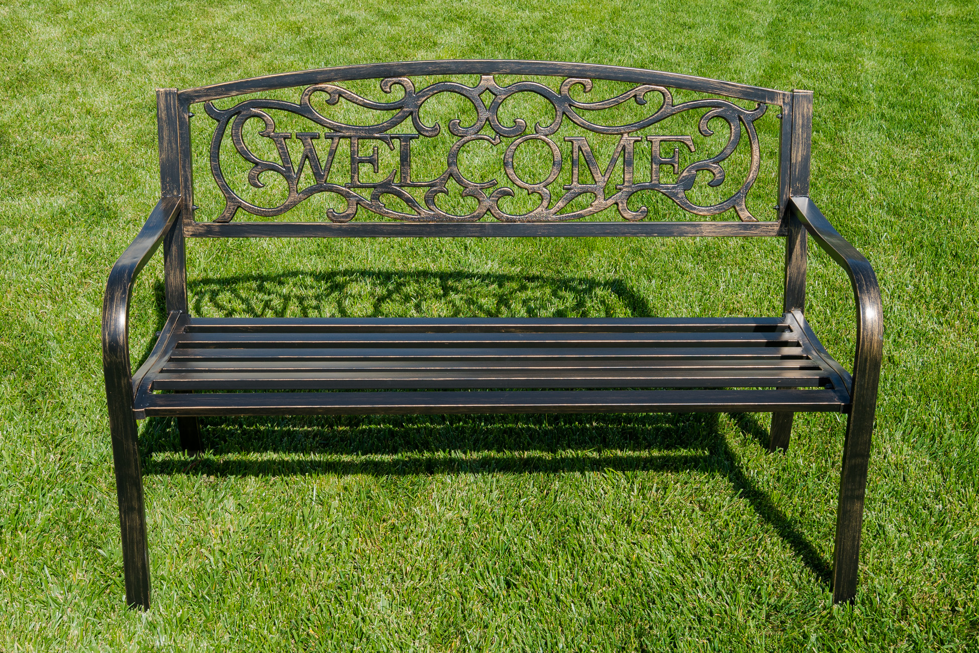 New 50 Inch Outdoor Garden Bench Patio Furniture Welcome Design Love Seat Home Ebay