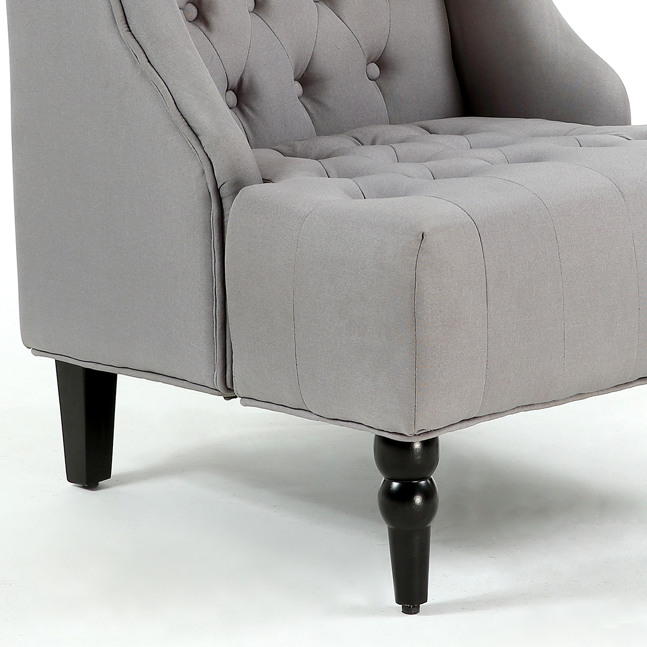 White tufted accent chair - Wingback Accent Chair Tall High Back Living Room Tufted Nailhead Gray
