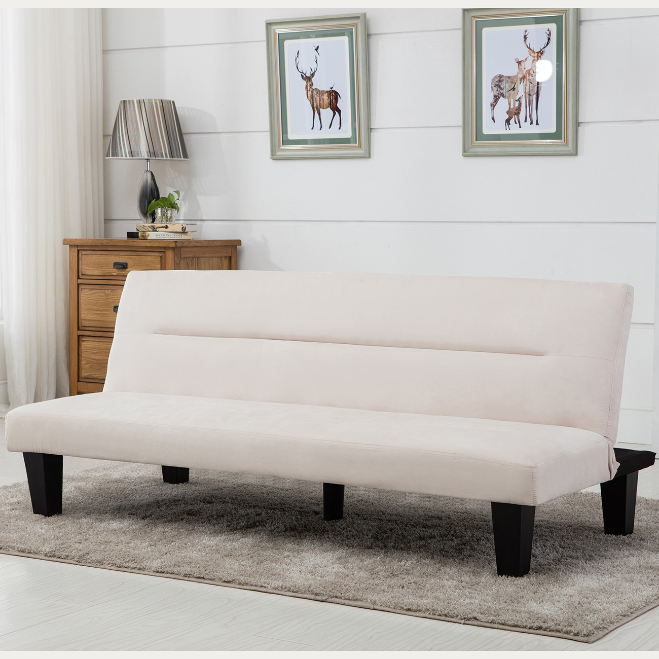 Modern style sofa bed futon couch sleeper lounge sleep for Modern divan bed