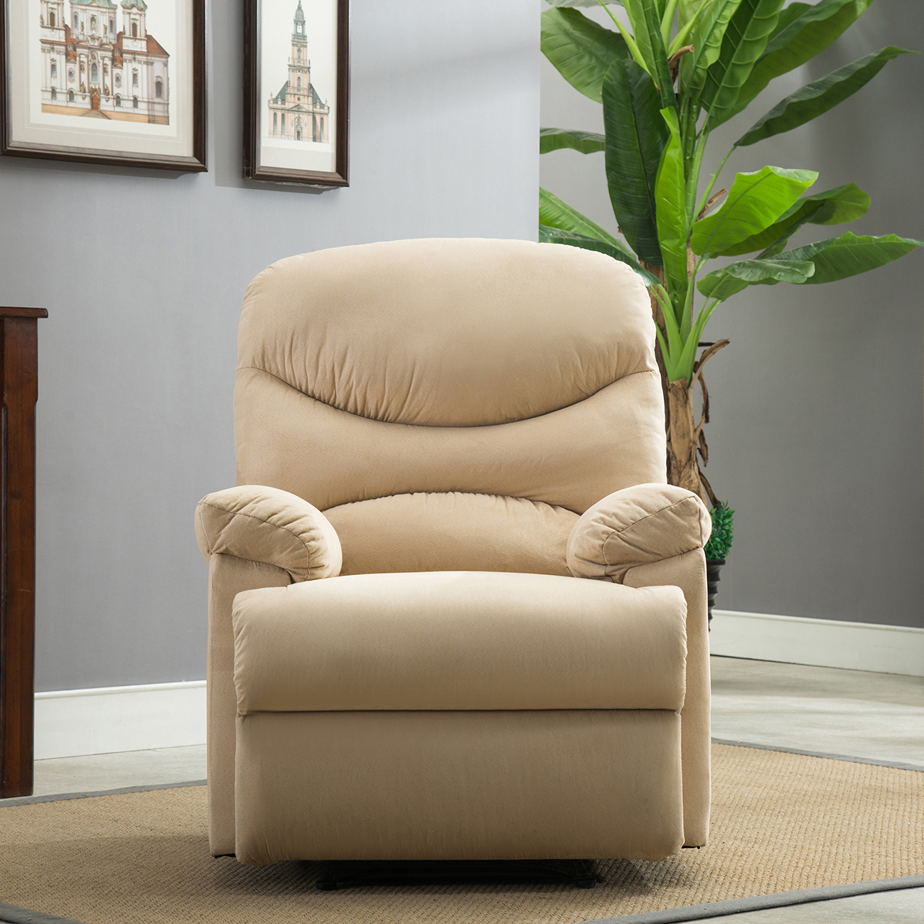 Recliner Chair Microfiber Reclining Furniture Home Living Room ...