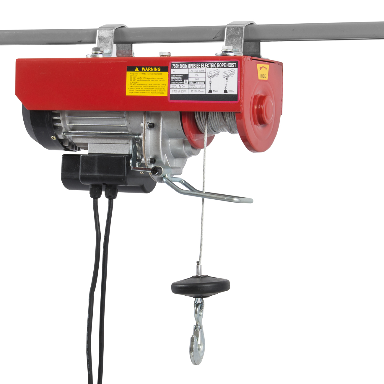 New 1500lb electric motor overhead winch hoist crane lift for Motors used in cranes