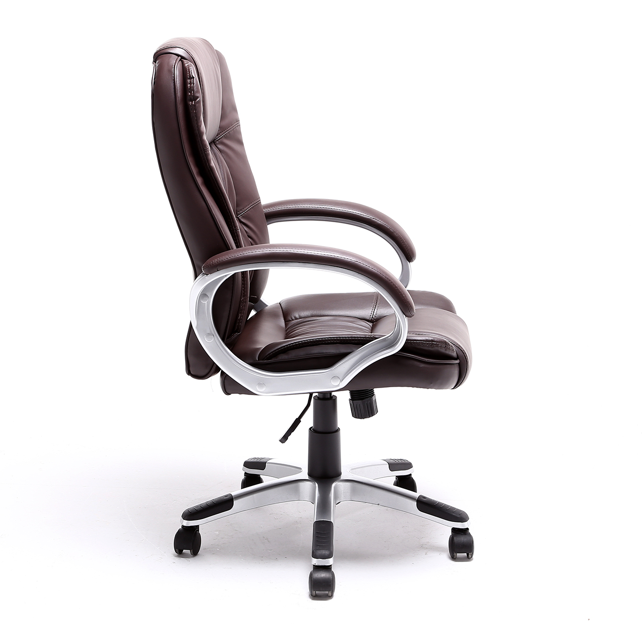 Black brown white pu leather modern executive computer for Modern leather office chairs