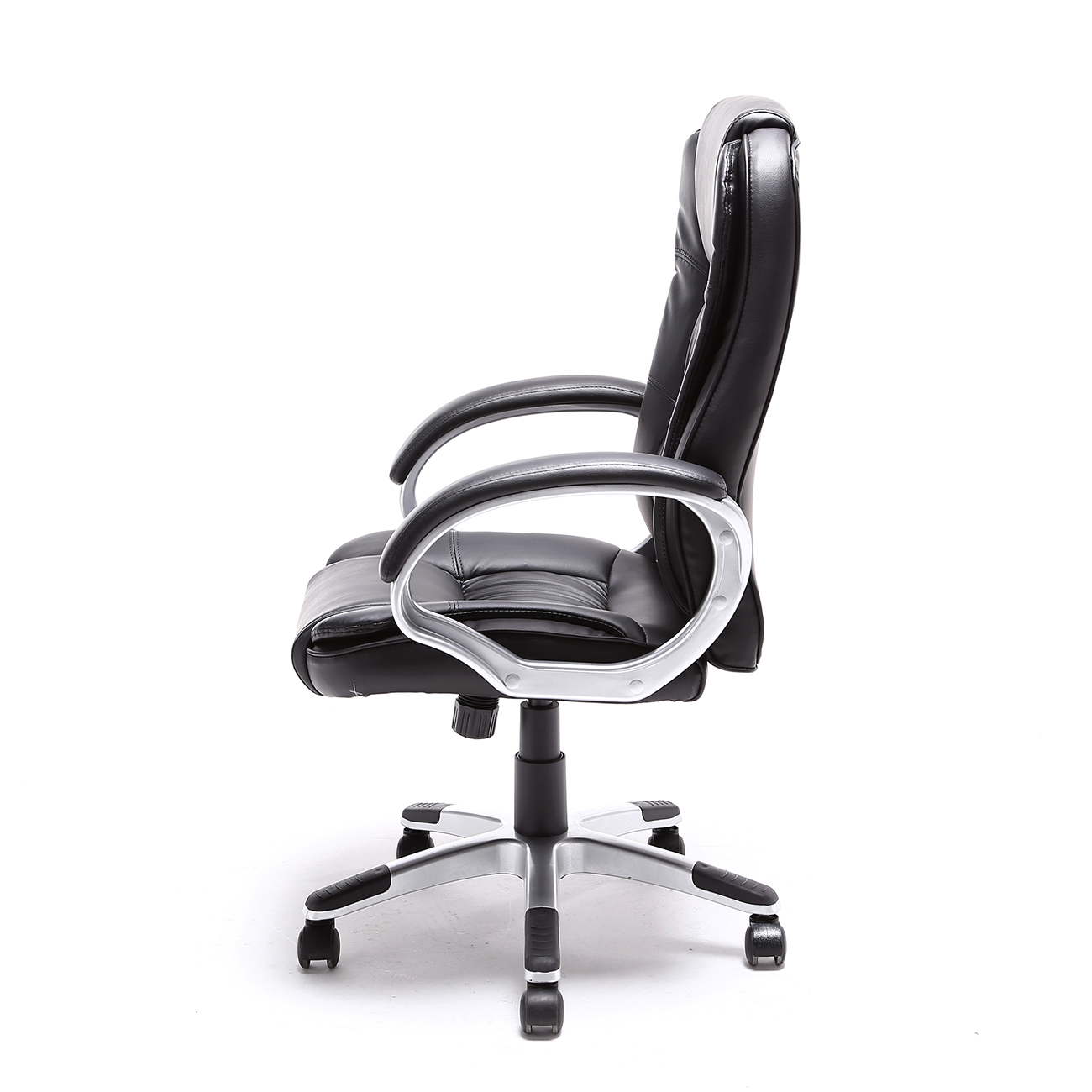 Black brown white pu leather modern executive computer for Desk chair white leather