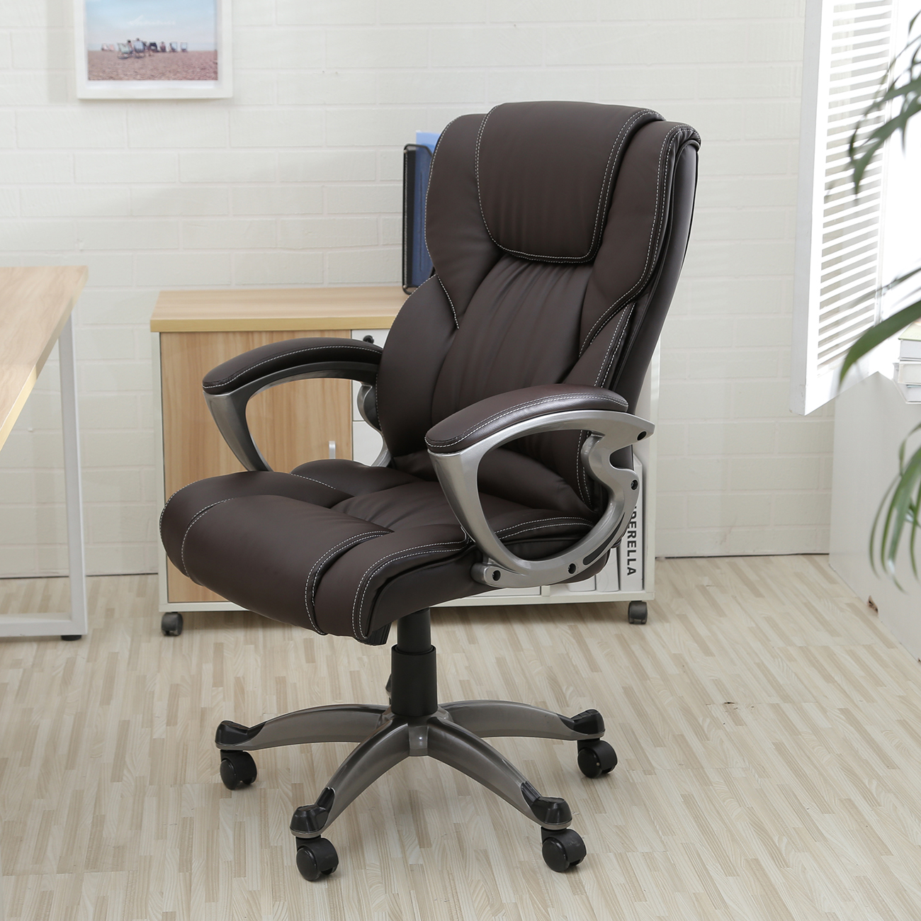 executive office chair high back task ergonomic computer desk study pu leather ebay. Black Bedroom Furniture Sets. Home Design Ideas