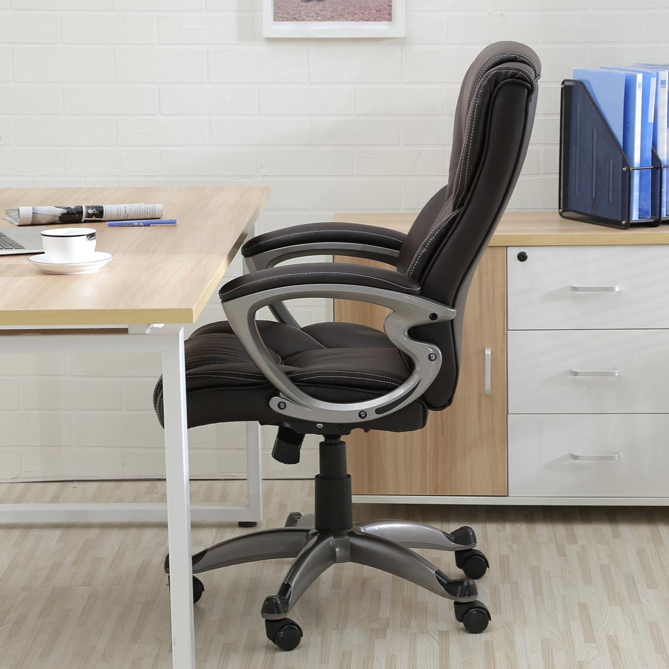 Executive Office Chair High-Back Task Ergonomic Computer Desk Study PU Leather