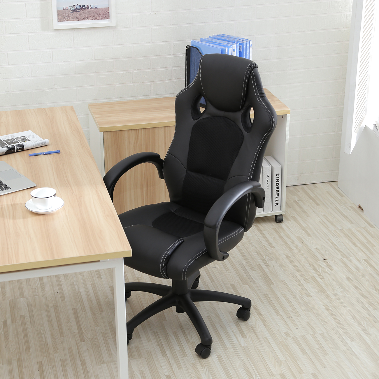 high back race car style bucket seat office desk chair gaming