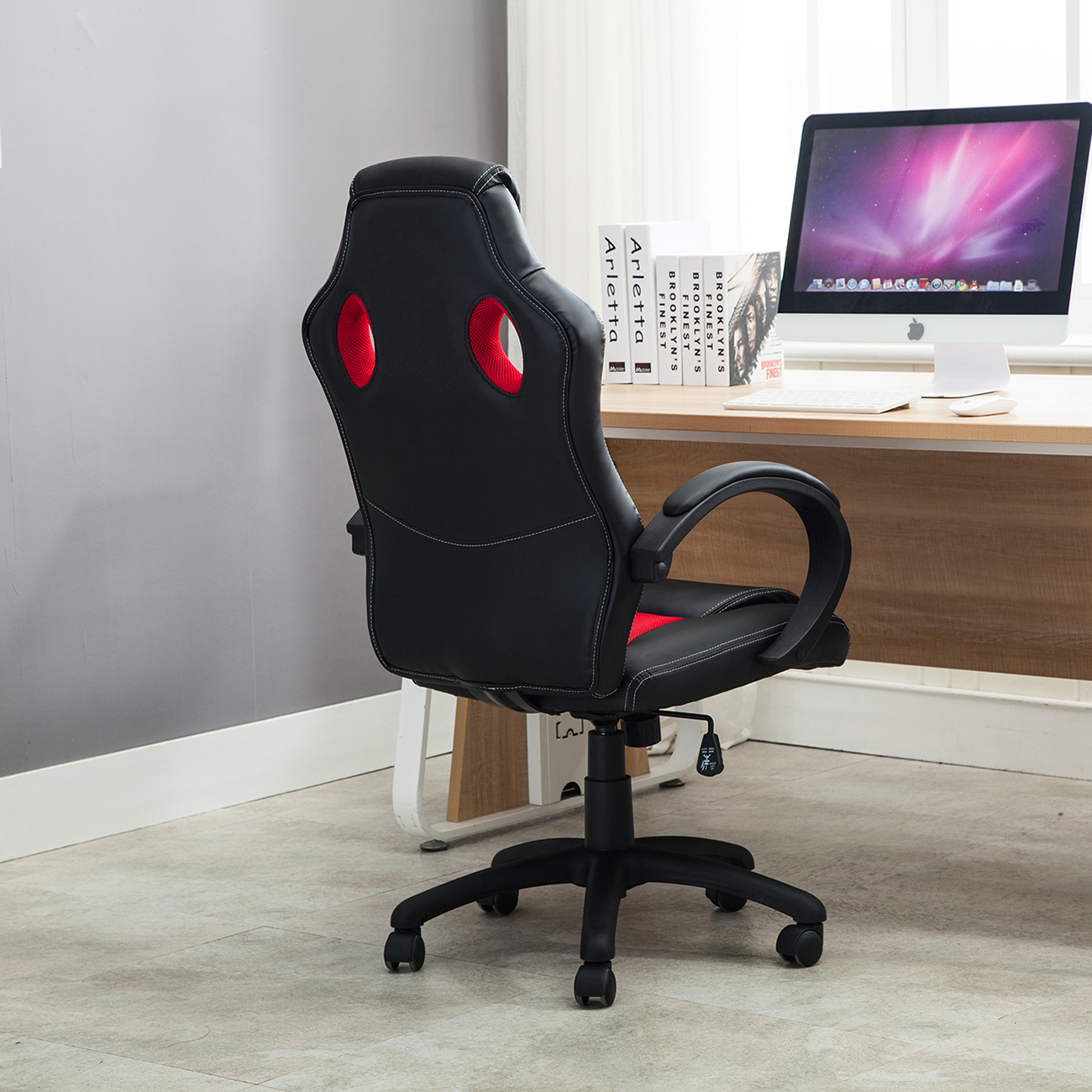 Office Chair Ergonomic Computer Mesh PU Leather Desk Office Chair Ergonomic Computer Mesh PU Leather Desk Seat Race Car  . Office Racer Chair. Home Design Ideas
