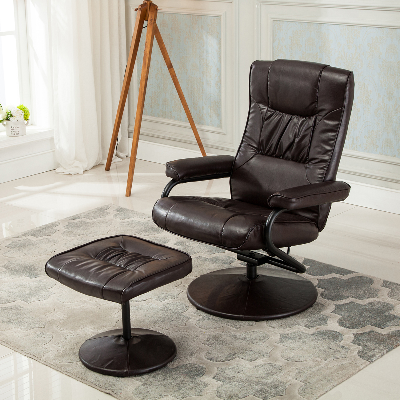 28 armchair with ottoman set modway divulge arm chair and o