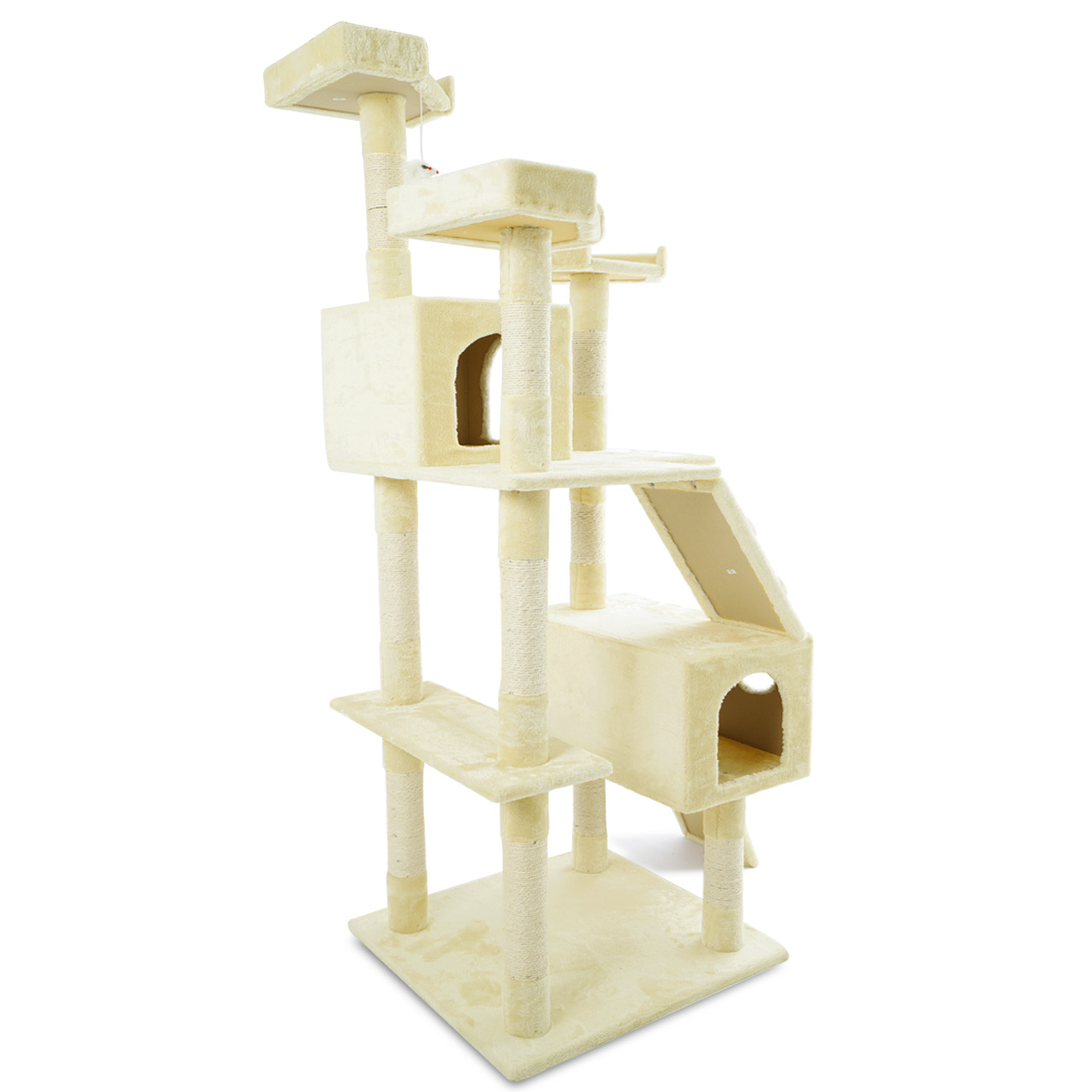 new 72 inch cat tree play house tower condo scratch post. Black Bedroom Furniture Sets. Home Design Ideas