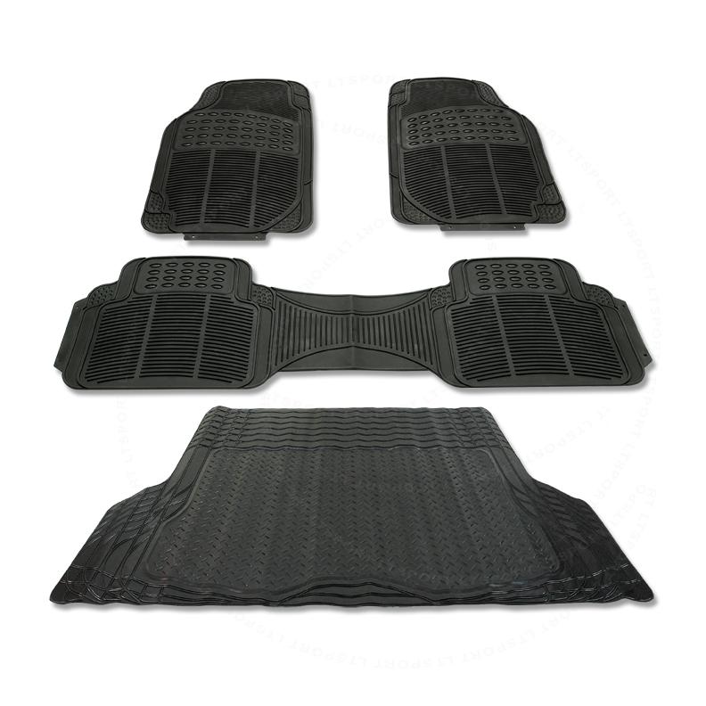 90-08 道奇 防水橡胶 脚垫+后备箱垫 4件一套