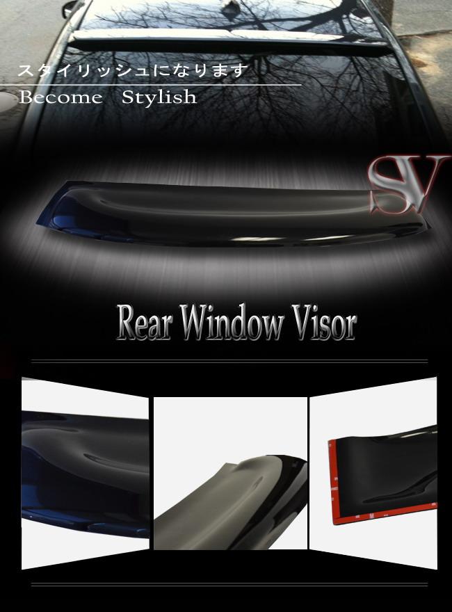 Rear roof spoiler wind shade guard window visor honda for 2001 honda civic rear window visor