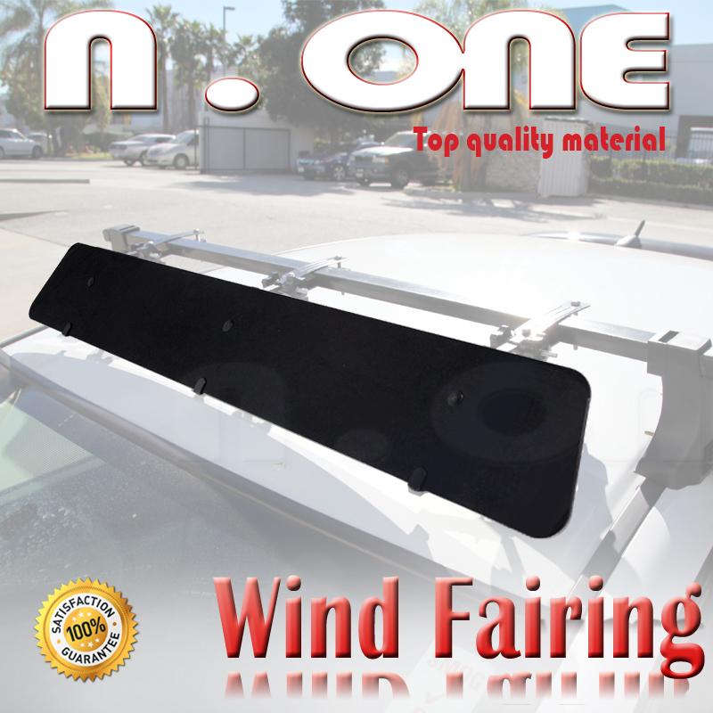 "43/"" Roof Top Cross Bar Air Deflector Aerodynamic Wind Fairing Set For Toyota"
