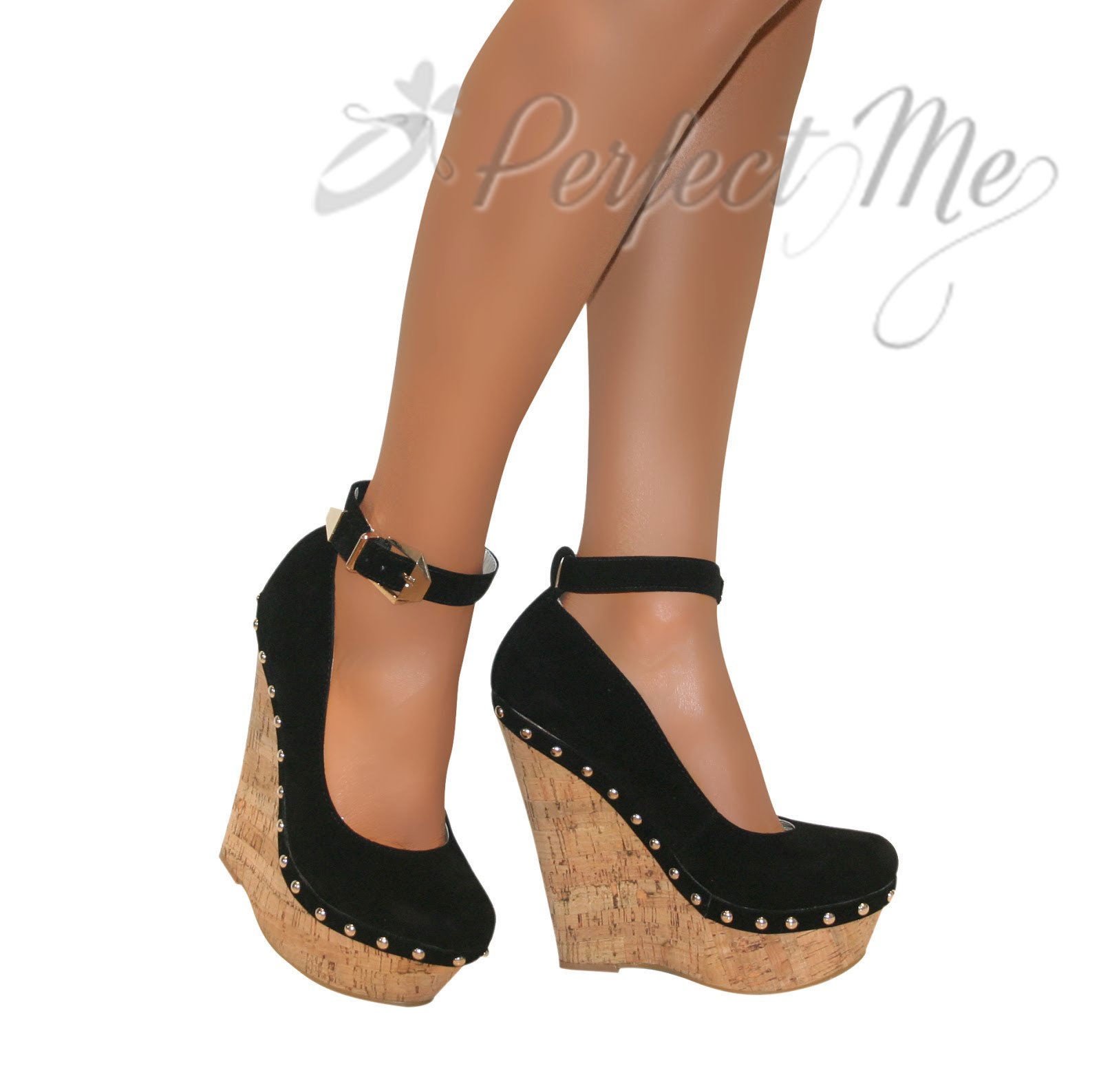 WOMENS-STUDDED-CORK-WEDGE-PLATFORM-ANKLE-STRAPPY-HIGH-HEELS-SHOE-BUCKLE-SIZE