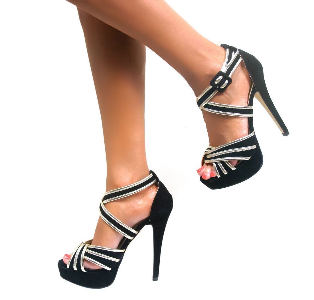 Strappy Ladies New High Heel Womens Sandals Ankle Strap ...