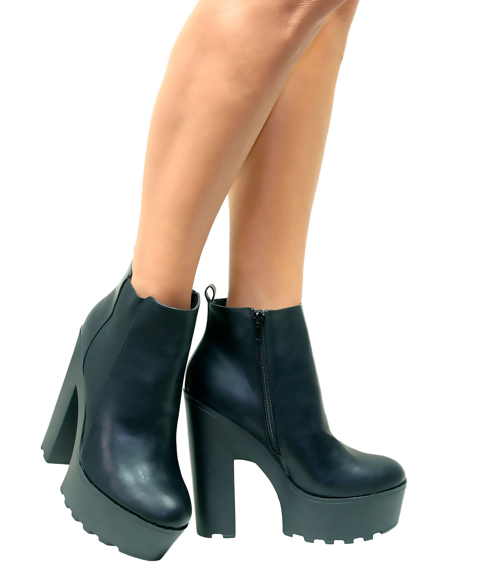 Chunky High Heel Platform