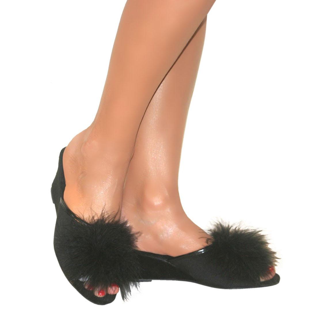Femme Slip On Dunlop Mule Talon Compens 233 En Daim Peep Toe