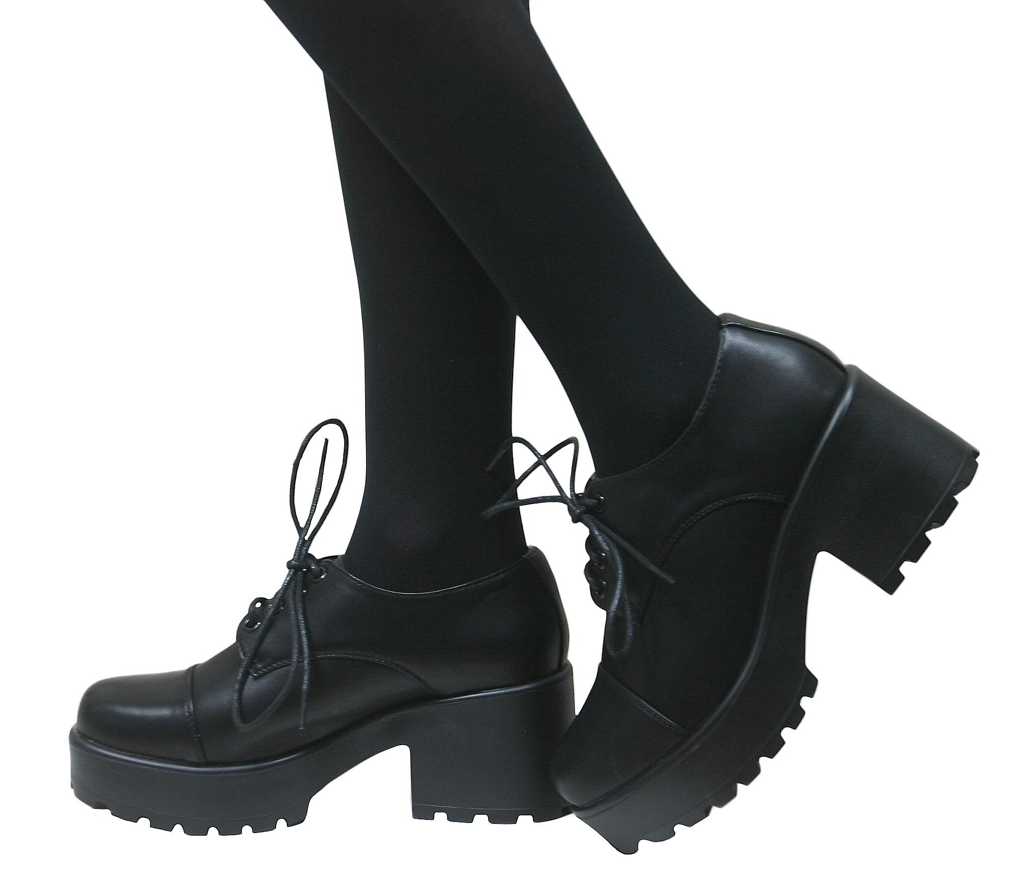 Zapatos negros formales Industrial punk para mujer Comprar barato Manchester Gran sorpresa mDBoh7ezZD