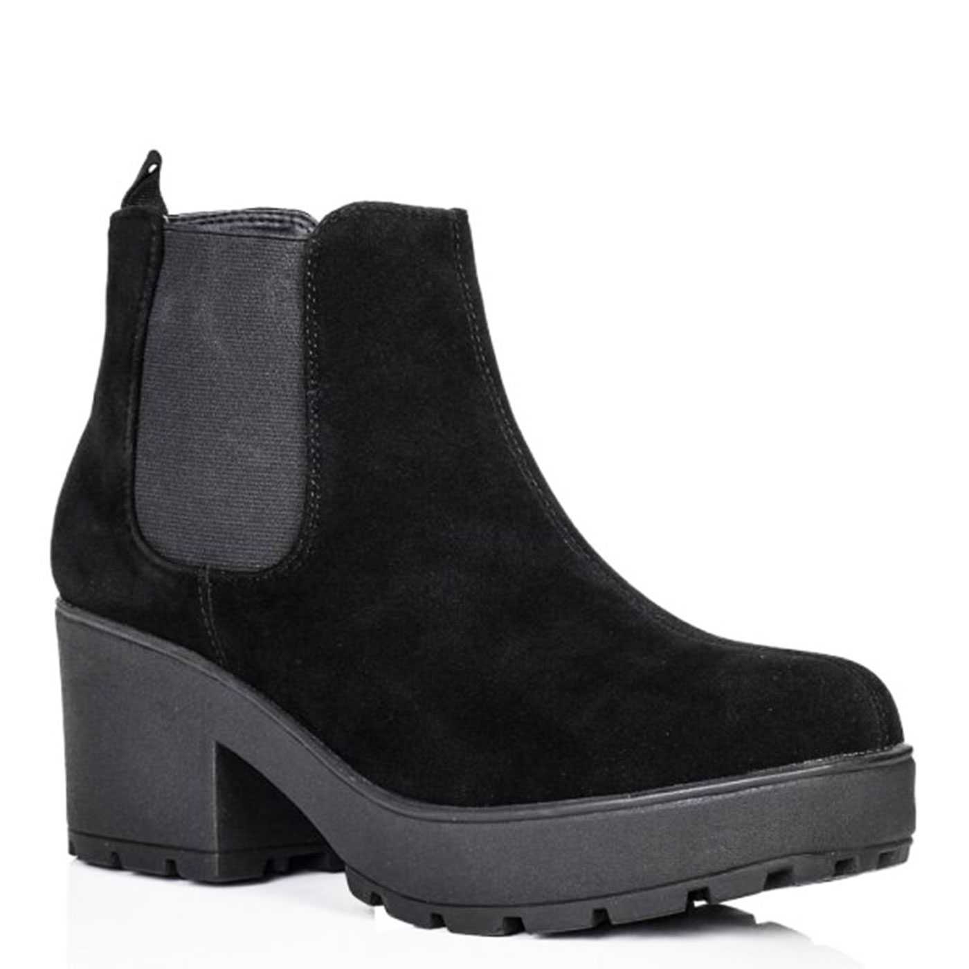 Womens Ladies New Chelsea Platform Ankle Boots Chunky Low Mid Heel ...