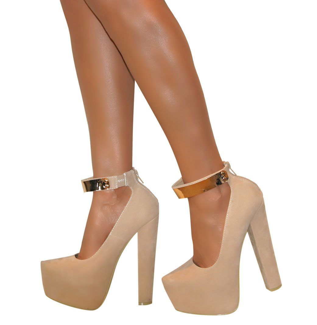 Chunky Nude Heels - Is Heel