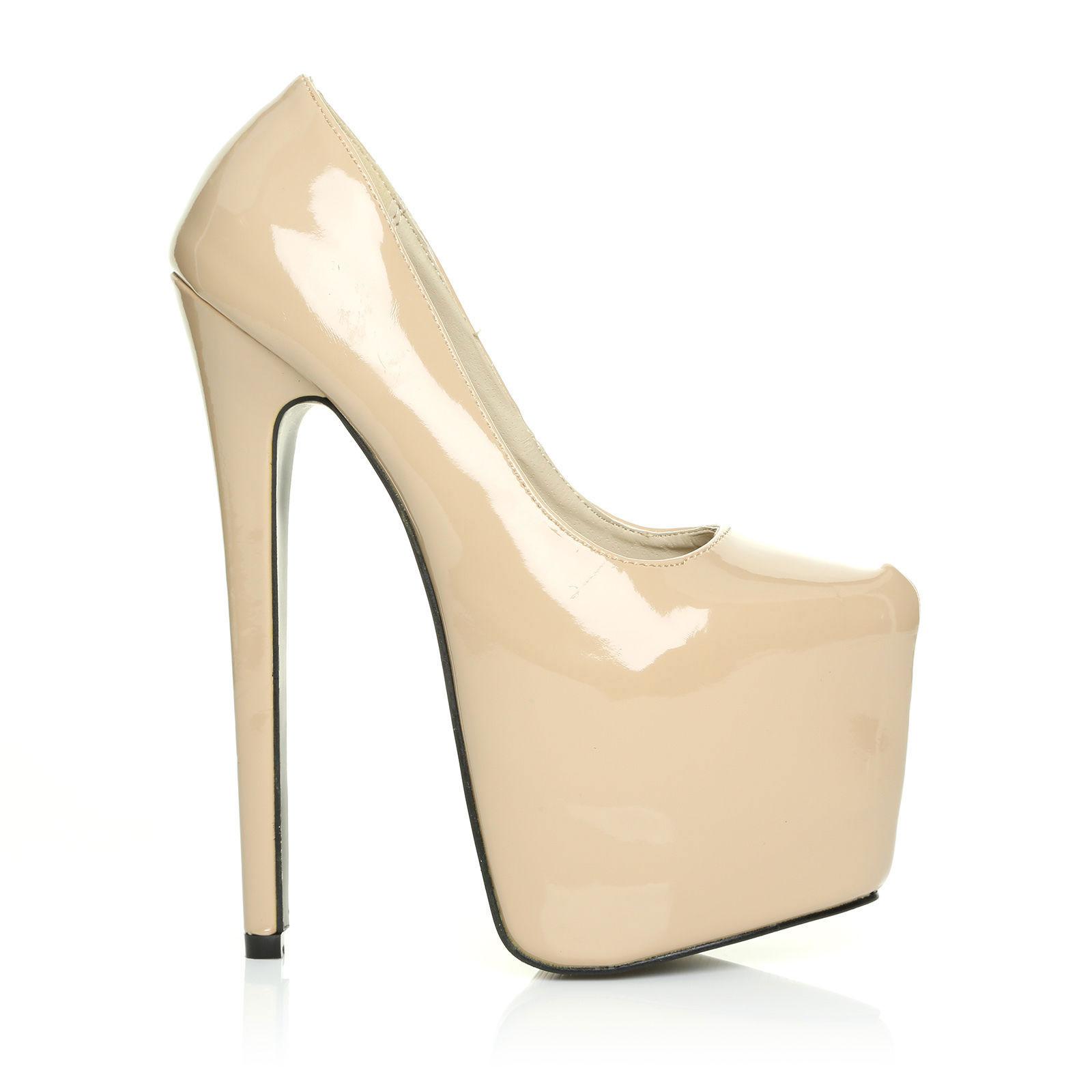 womens platform stiletto high heel pointed