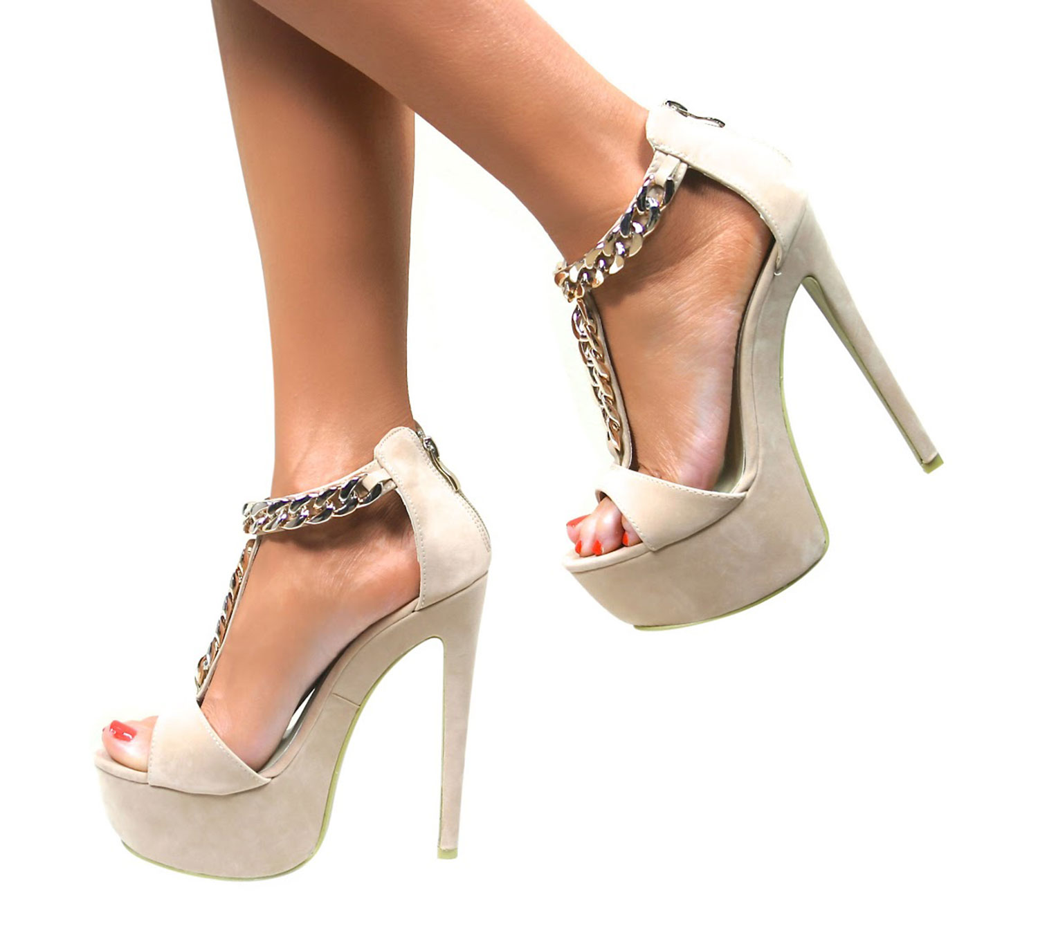 WOMENS STRAPPY PEEP TOE PLATFORM STILETTO HIGH HEELS SHOE SANDALS ...