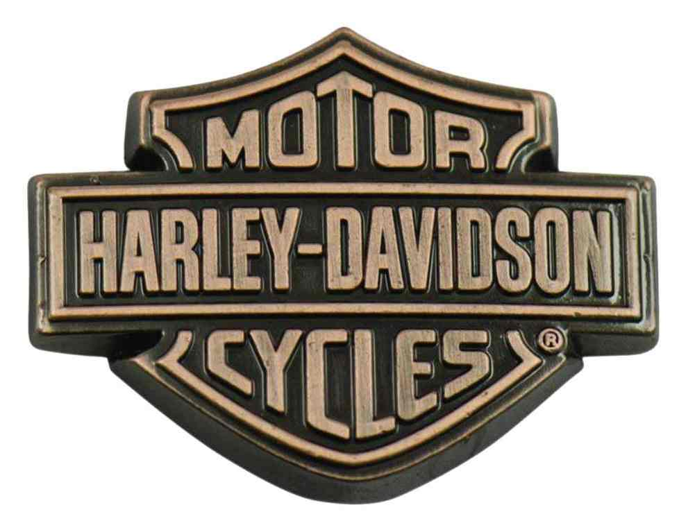 Harley Davidson Symbol: Harley-Davidson Copper Bar & Shield Logo Pin, 1.5 X 1 Inch
