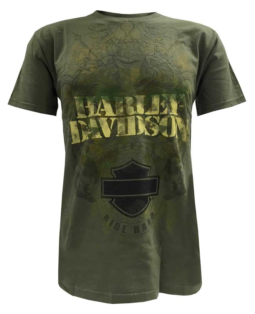 harley davidson men 39 s t shirt bar shield ride hard. Black Bedroom Furniture Sets. Home Design Ideas
