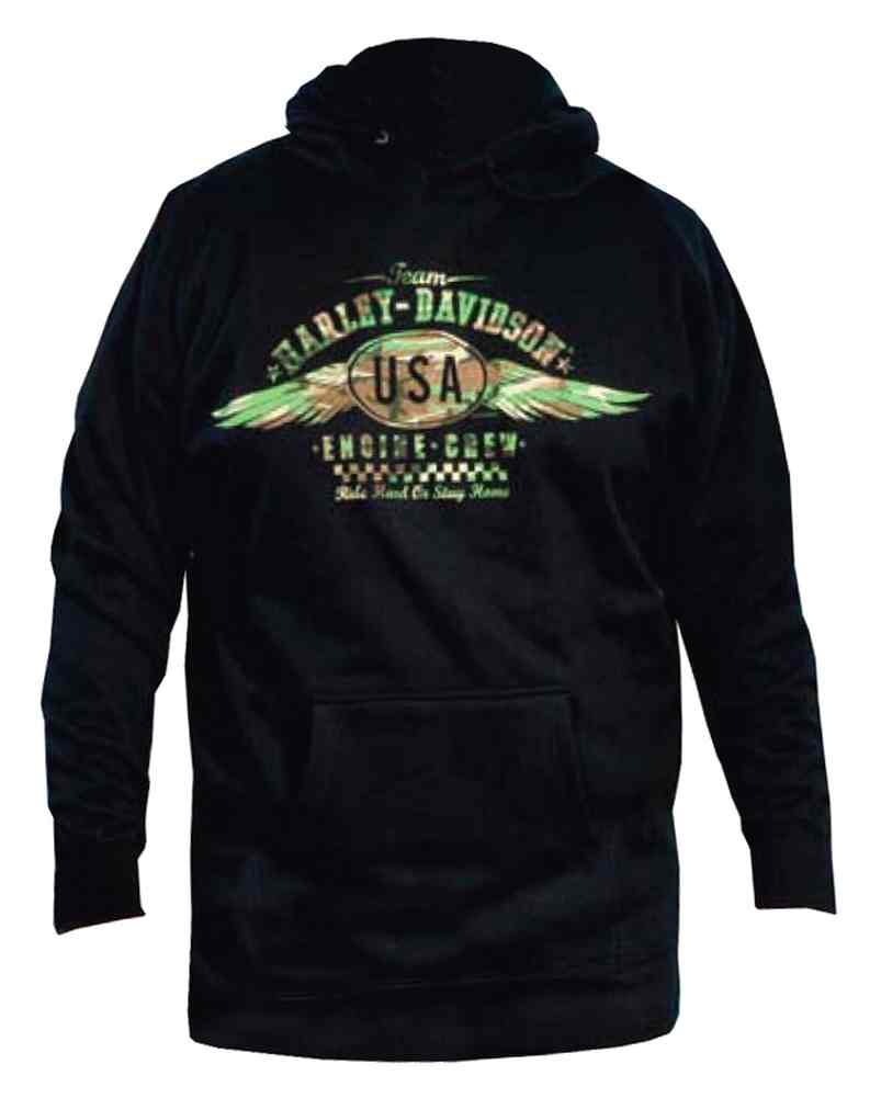 harley davidson men 39 s pullover hooded sweatshirt usa. Black Bedroom Furniture Sets. Home Design Ideas